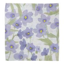 forget-me-not-flowers print bandana