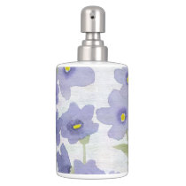 forget-me-not-flowers print bath set