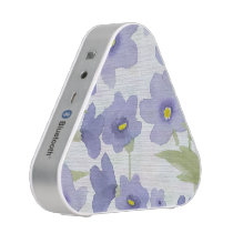 forget-me-not-flowers print bluetooth speaker