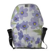 forget-me-not-flowers print courier bag