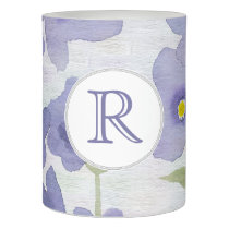 forget-me-not-flowers print flameless candle