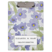 forget-me-not-flowers print floral pattern clipboard