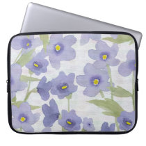 forget-me-not-flowers print laptop sleeve