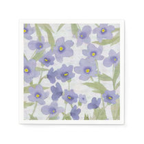 forget-me-not-flowers print napkin