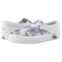 forget-me-not-flowers print Slip-On sneakers