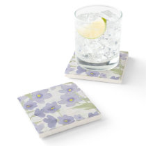 forget-me-not-flowers print stone coaster