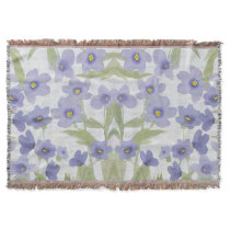 forget-me-not-flowers print throw blanket
