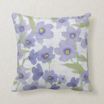forget-me-not-flowers print throw pillow
