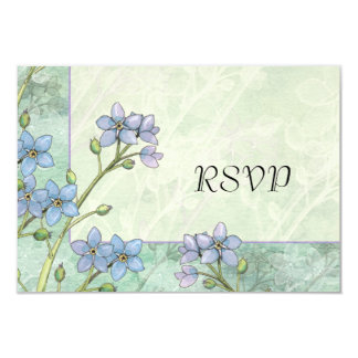 Forget Me Not Flowers Spring Wedding Reply Cards