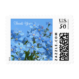 Forget-me-not flowers Thank you Postage