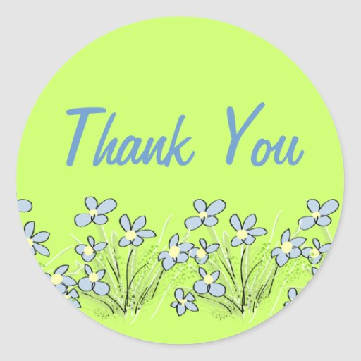 Forget-me-not Flowers Thank You Sticker