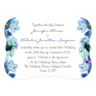 Forget Me Not Flowers Watercolor Wedding Card