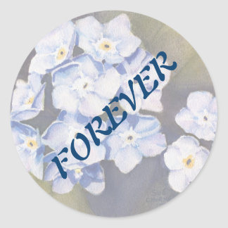 FORGET ME NOT FLOWERS WEDDING STICKERS