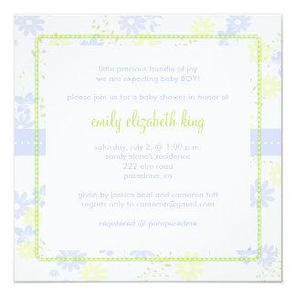 Forget Me Not ~ Garden baby shower Custom Invites