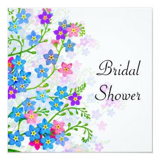 Forget Me Not Garden Flowers Bridal Shower Invite