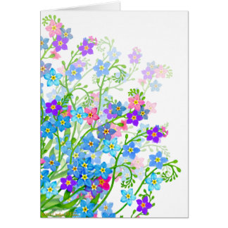 Forget Me Not Garden Flowers Card