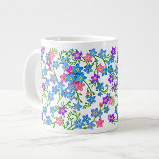 Forget Me Not Garden Flowers Jumbo Mug