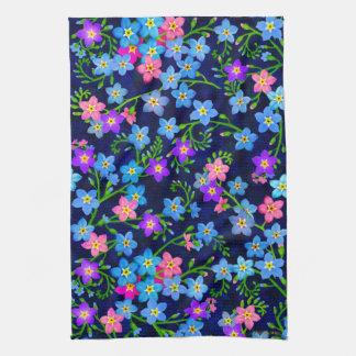 Forget Me Not Garden Flowers Kitchen Towel