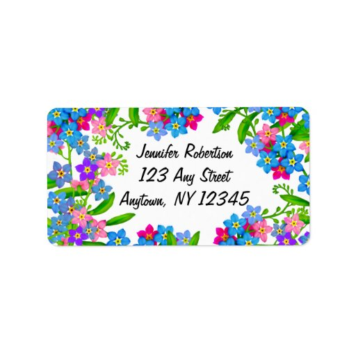 Forget Me Not Garden Flowers Labels
