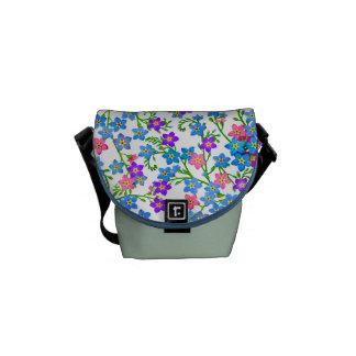 Forget Me Not Garden Flowers Messenger Bag