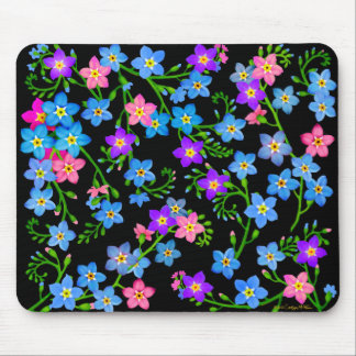 Forget Me Not Garden Flowers Mousepad