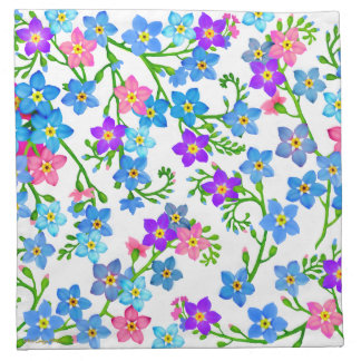 Forget Me Not Garden Flowers Napkins