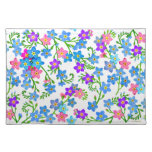 Forget Me Not Garden Flowers Placemat Cloth Placemat
