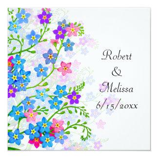 Forget Me Not Garden Flowers Wedding Invitation