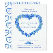 20 Small RSVP Cards to Accompany Invites with Envelopes Forget me Knot Heart