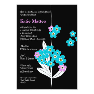 Forget Me Not Invitation