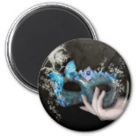 Forget Me Not - Masquerade 2 Inch Round Magnet