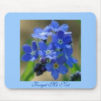 Forget Me Not Mouse Pad
