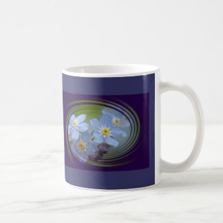 Forget Me Not Classic White Coffee Mug