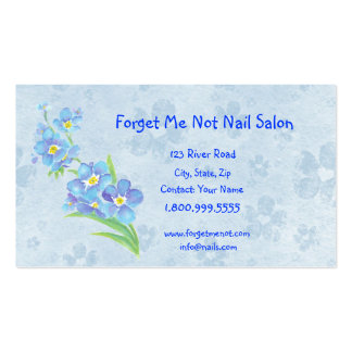 Forget Me Not Nail Salon Business Card