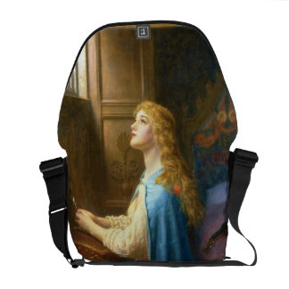 'Forget me Not' (oil on canvas) Messenger Bags