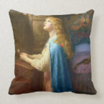 'Forget me Not' (oil on canvas) Throw Pillow