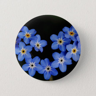 Forget me not pinback button