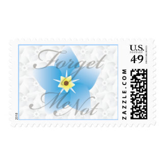 Forget Me Not Postage Stamp