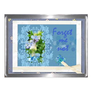 forget me not postcard