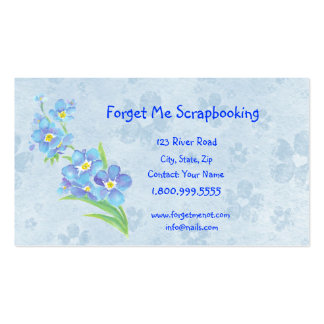 Forget Me Not Scrapbooking Store Business Card