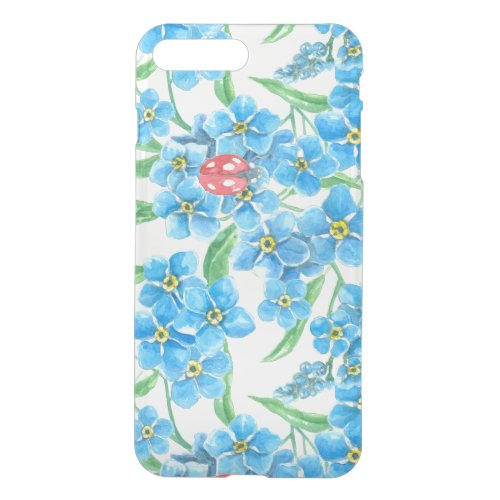 Forget me not seamless floral pattern iPhone 8 plus/7 plus case