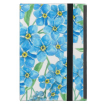 Forget me not seamless pattern iPad mini cover