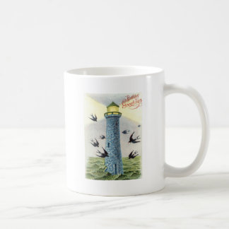 Forget Me Not Songbird Lighthouse Coffee Mug