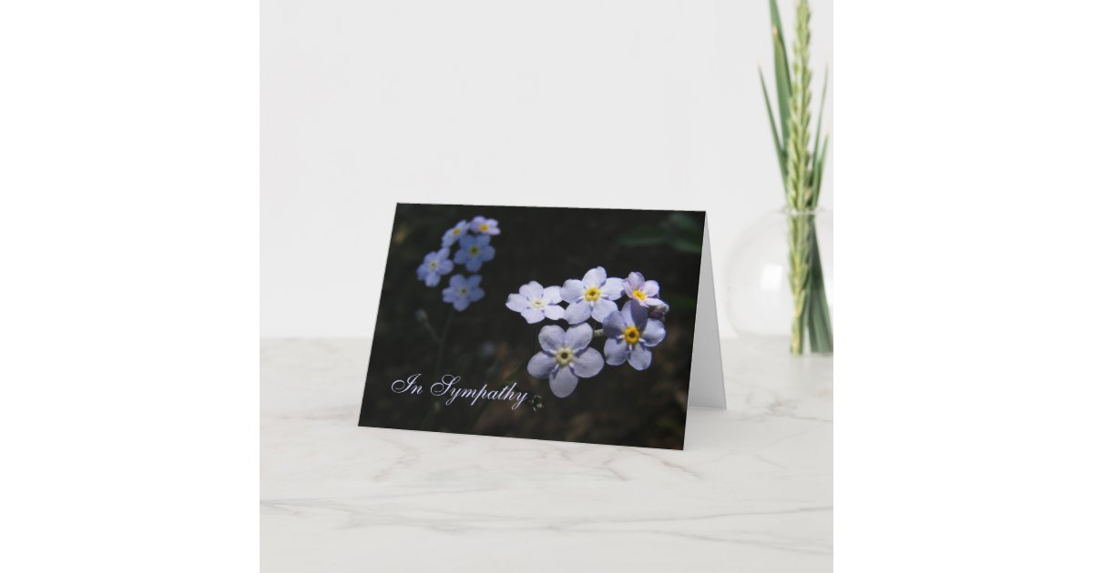 Forget Me Not Wedding Invitations: Forget Me Not ~ Sympathy Card