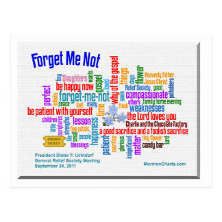Forget Me Not Talk by President Uchtdorf Postcard