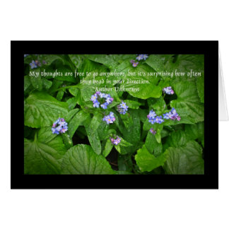 forget-me-not thoughts greeting card