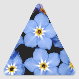 Forget-me-not Triangle Sticker