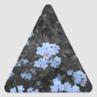 Forget Me Not Triangle Sticker