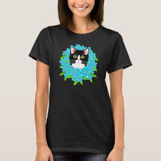 Forget Me Not Tuxedo Cat Cute Customizable shirt
