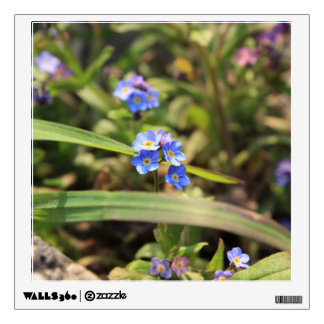 forget-me-not wall decal